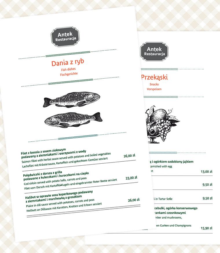 antek menu