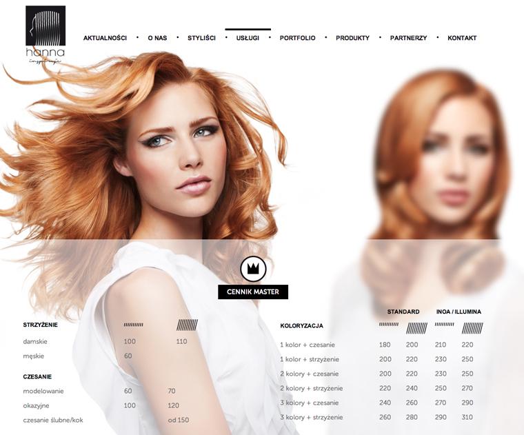 Salon hanna reklama profil producent branding projekty for Salon hanna